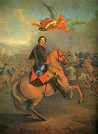 Петр в Полтавском бою (И.Таннауэр)
