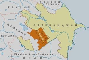 Карта Нагорного Карабаха