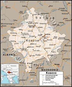 Карта Косово