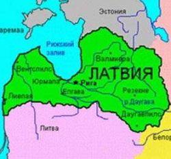 Карта Латвии и Эстонии