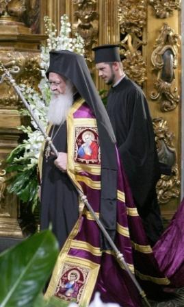 Константинопольский Патриарх Варфоломей в Софийском соборе Киева