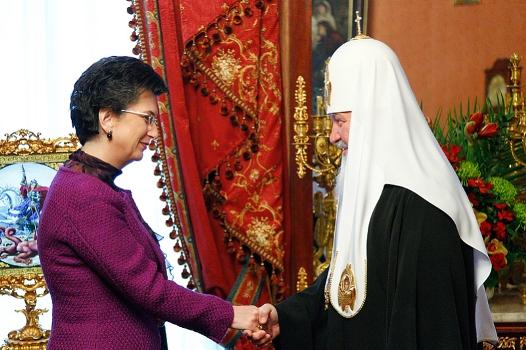 Встреча Патриарха Кирилла с Нино Бурджанадзе