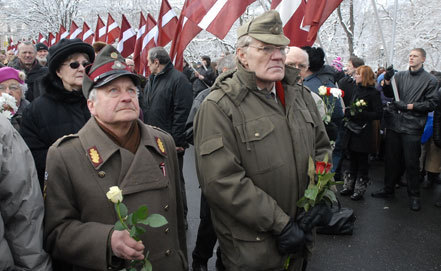 Шествие ветеранов латышского легиона СС