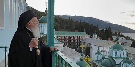 Патриарх Константинопольский Варфоломей в Русской обители св. вмч. Пантелеимона на Афоне