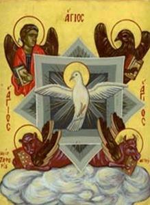 Святой Дух в виде голубя