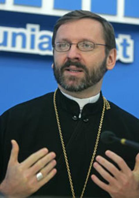 Глава украинских униатов архиепископ Святослав (Шевчук)