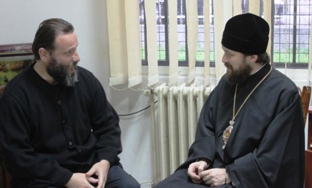 Архиепископ Иоанн (Вранишковский) и митрополит Волоколамский Иларион