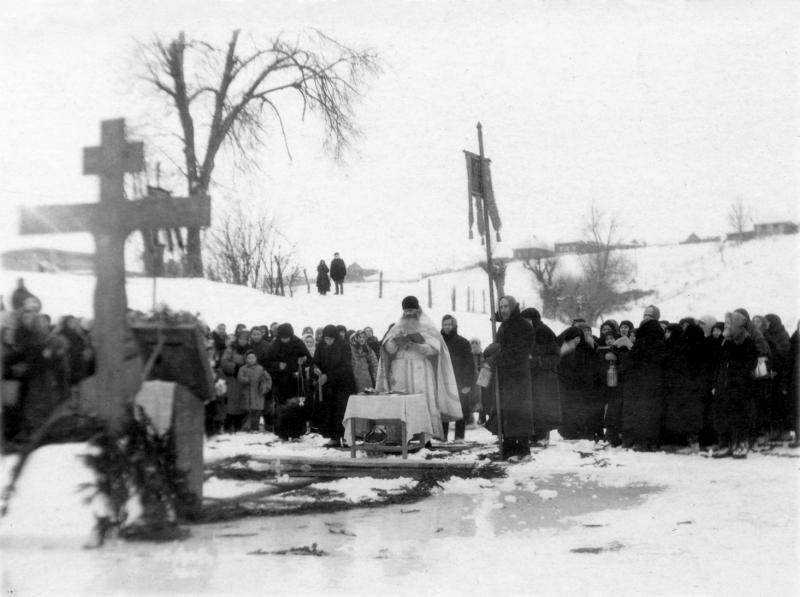Великое освящение воды на Богоявление в Козельске