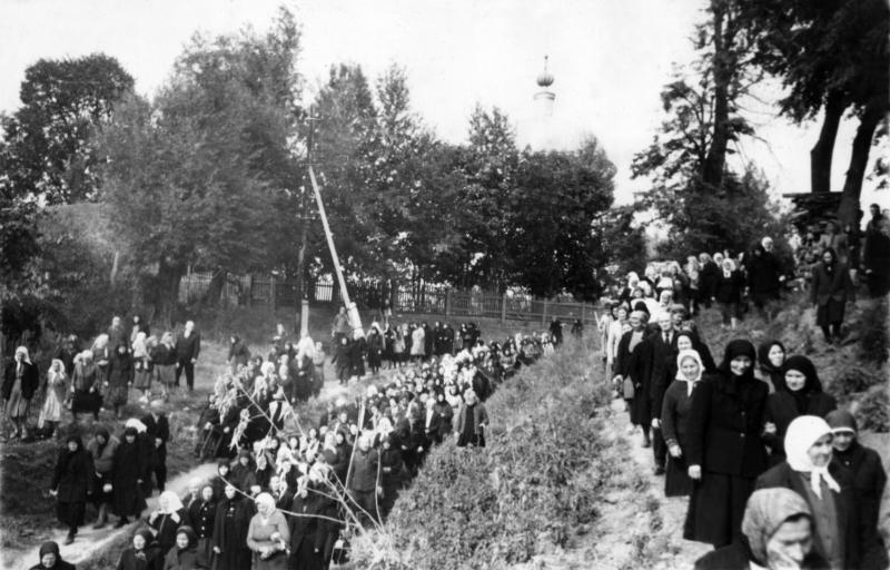 Похороны иеромонаха Рафаила (Шейченко). 1957г.