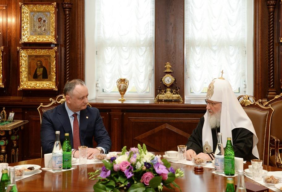 Игорь Додон и Патриарх Кирилл