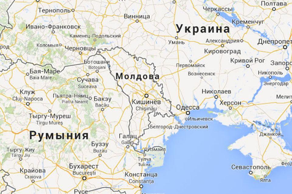 Карта Румынии и Украины