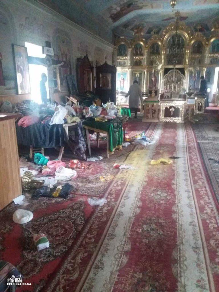 Осквернённый храм преподобного Серафима Саровского в Одесской области