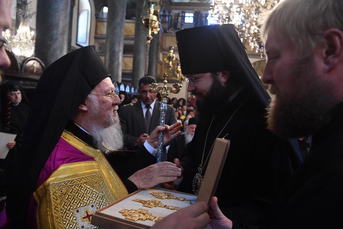 Патриарх Константинопольский Варфоломей и архиепископ Венский и Будапештский Антоний