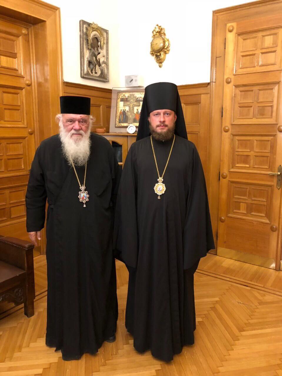 Архиепископ Афинский Ириней и епископ Барышевский Виктор