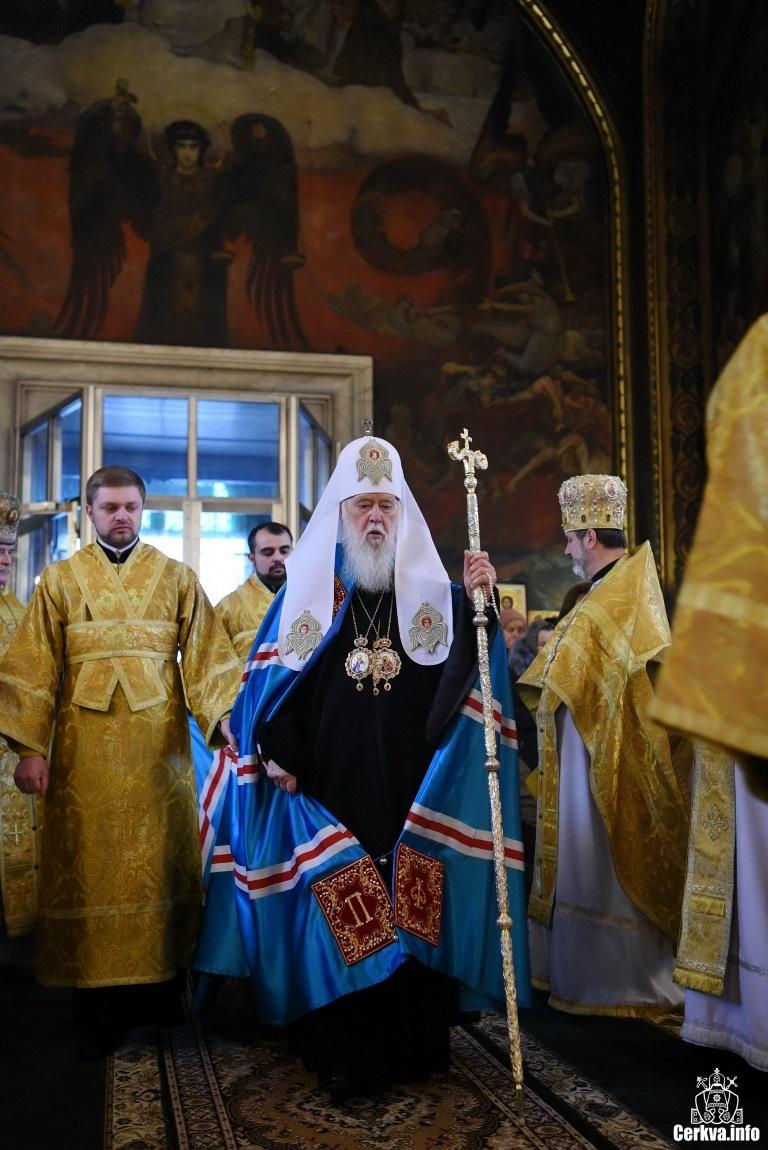 Лже-патриарх Филарет Денисенко после объединительного собора раскольников « d011bc1f6ee85