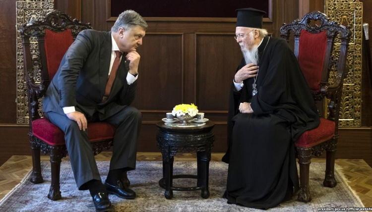 Патриарх Варфоломей и Пётр Порошенко договариваются об условиях автокефалии для украинских раскольников