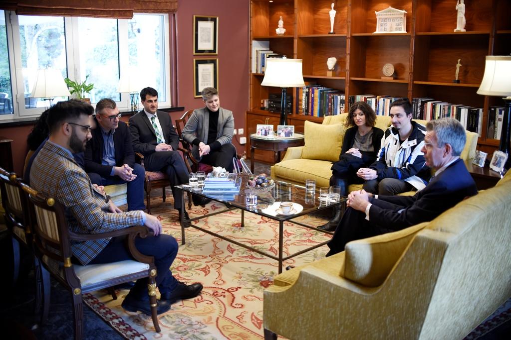 Посол США в Греции Джеффри Пайетт принял членов редакции агентства Ромфея