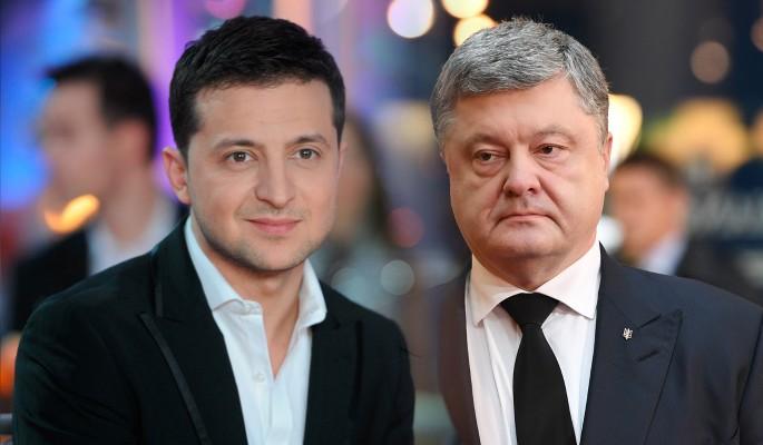 Президент Украины Пётр Порошенко и комик Владимир Зеленский