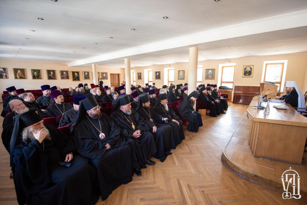 Блаженнейший Митрополит Киевский Онуфрий встретился с духовенством Бориспольской и Белоцерковской епархии