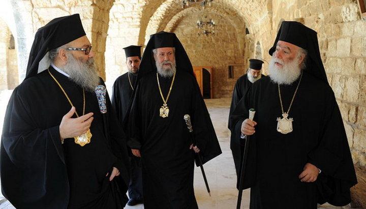 Патриархи Александрийский Феодор, Антиохийский Иоанн и Архиепископ Кипрский Хризостом