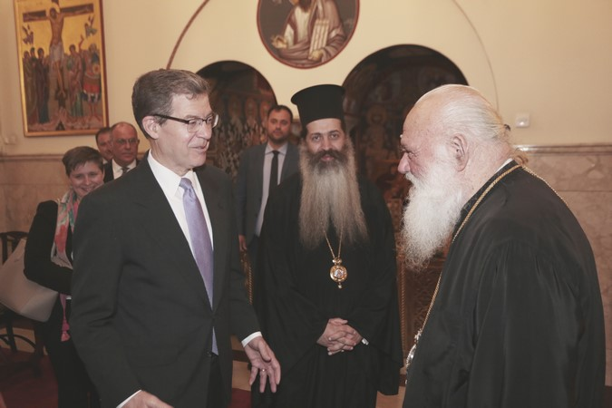 Посол США по вопросам религиозной свободы Самуэль Браунбек встретился с Архиепископом Афинский Иеронимом