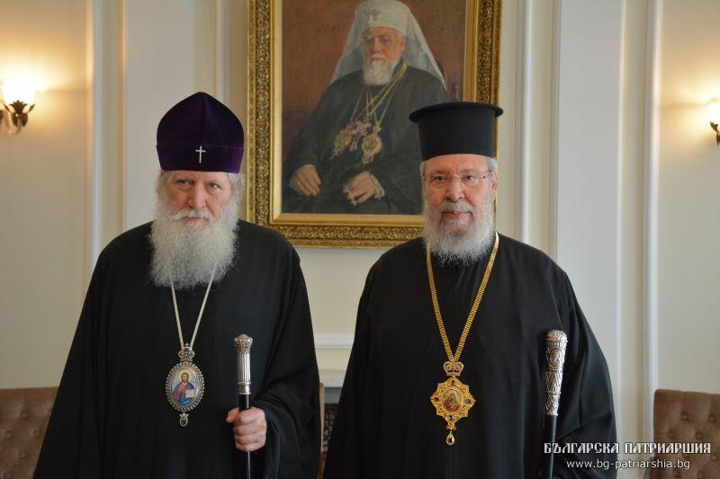 Архиепископ Кипрский Хризостом обсудил украинскую проблему с Патриархом Болгарским Неофитом