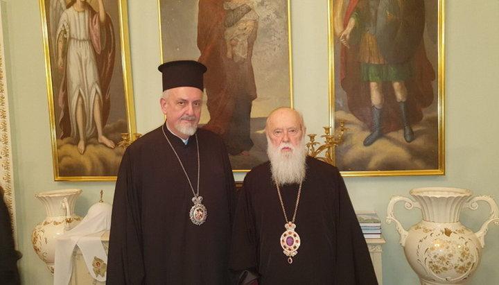 Лже-патриарха Филарет Денисенко и митрополит Галльский Эммануил