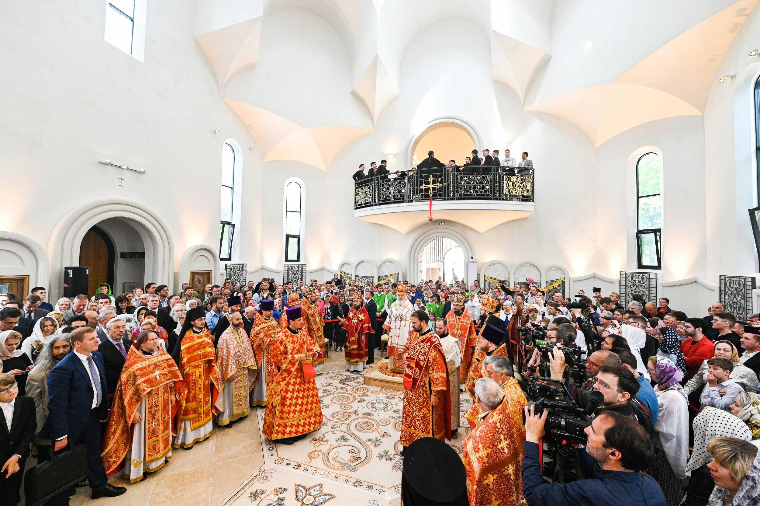Предстоятель Русской Православной Церкви совершил великое освящение страсбургского храма Всех святых