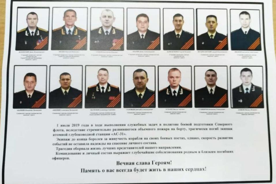 Погибшие в Североморске моряки-подводники