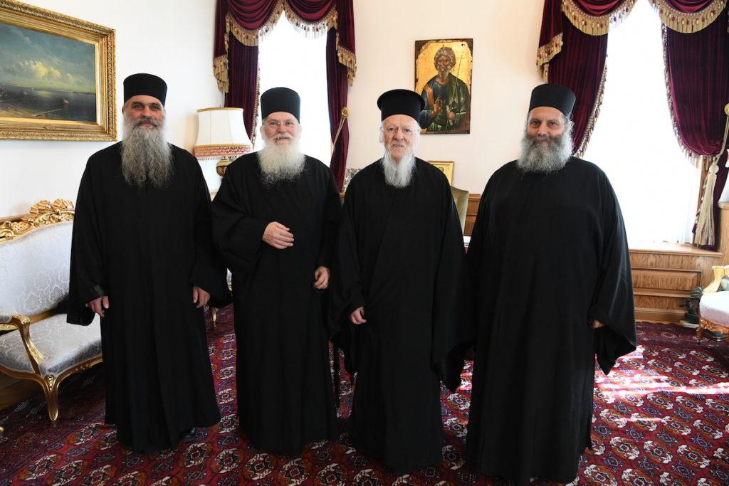 Делегация Ватопеда встретилась с Патриархом Варфоломеем