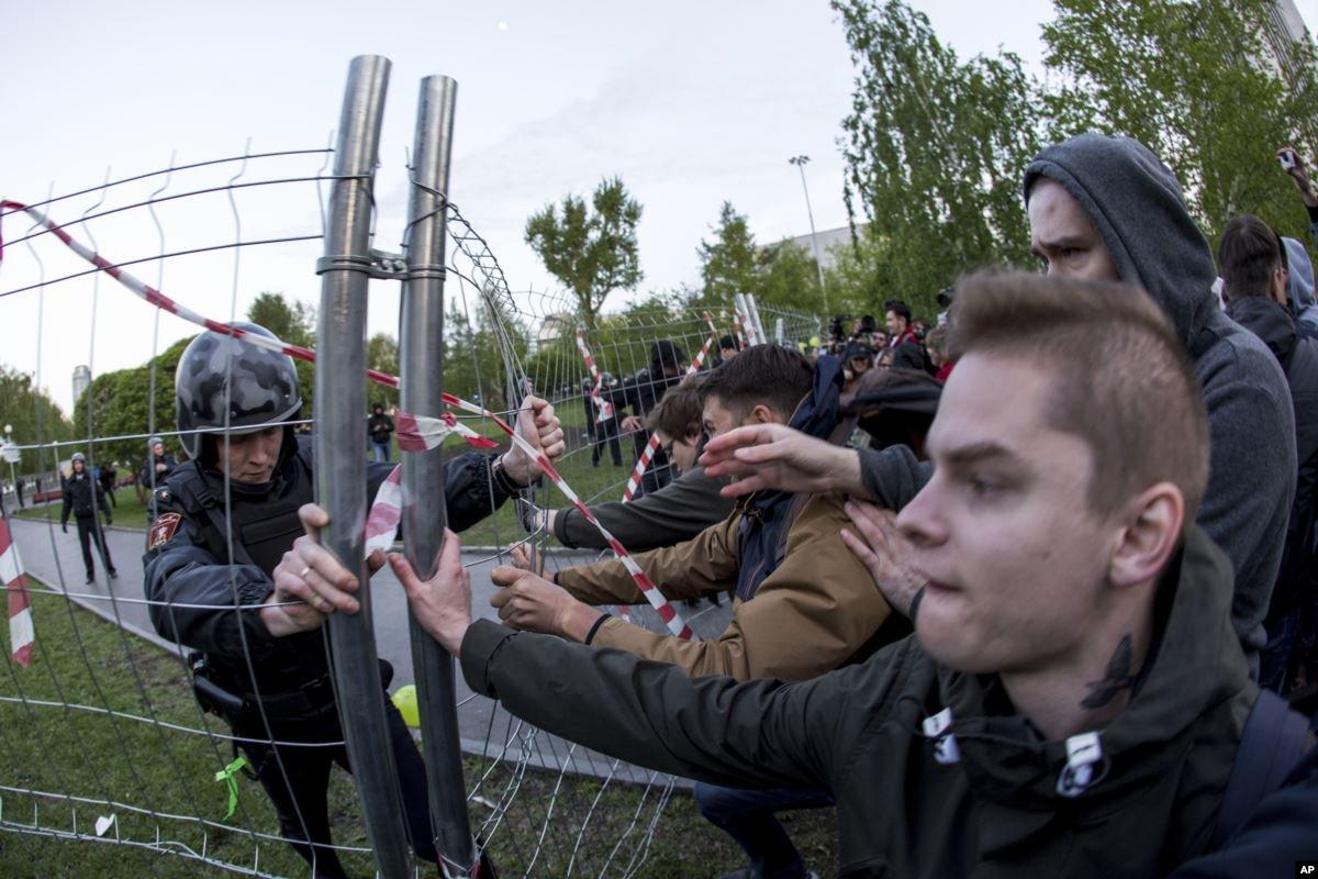 Митинг против строительства собора в Екатеринбурге