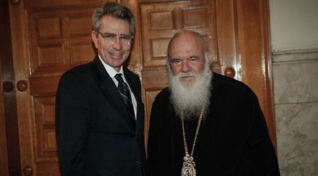 Архиепископ Афинский Иероним и посол США в Греции Джеффри Пайетт