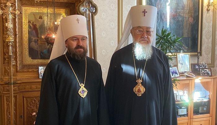 Митрополит Волоколамский Иларион и Блаженнейший Митрополит Польский Савва