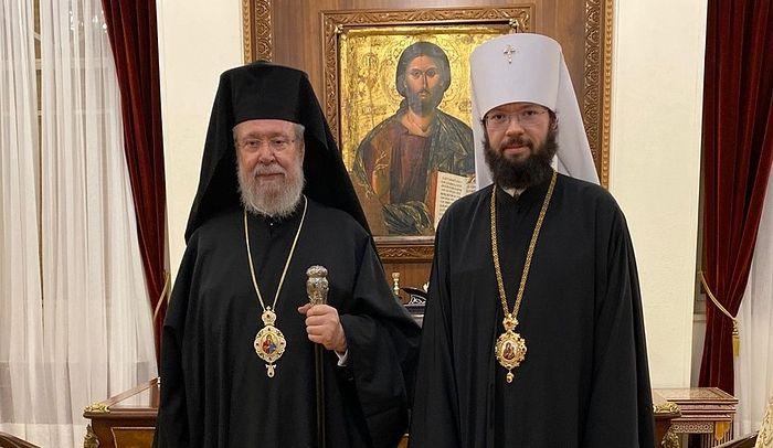 Митрополит Корсунский Антоний и Предстоятель Кипрской Православной Церкви