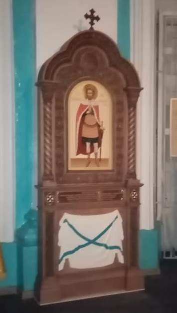 Киот Небесному покровителю адмирала Александра Колчака св. блгв. кн. Александру Невскому