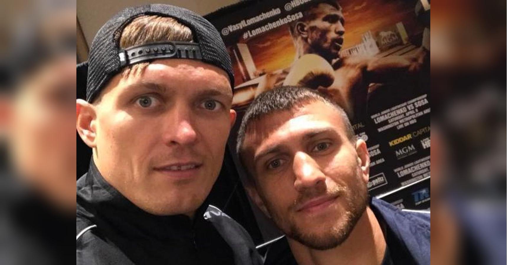 Украинские боксёры Василий Ломачено и Александр Усик