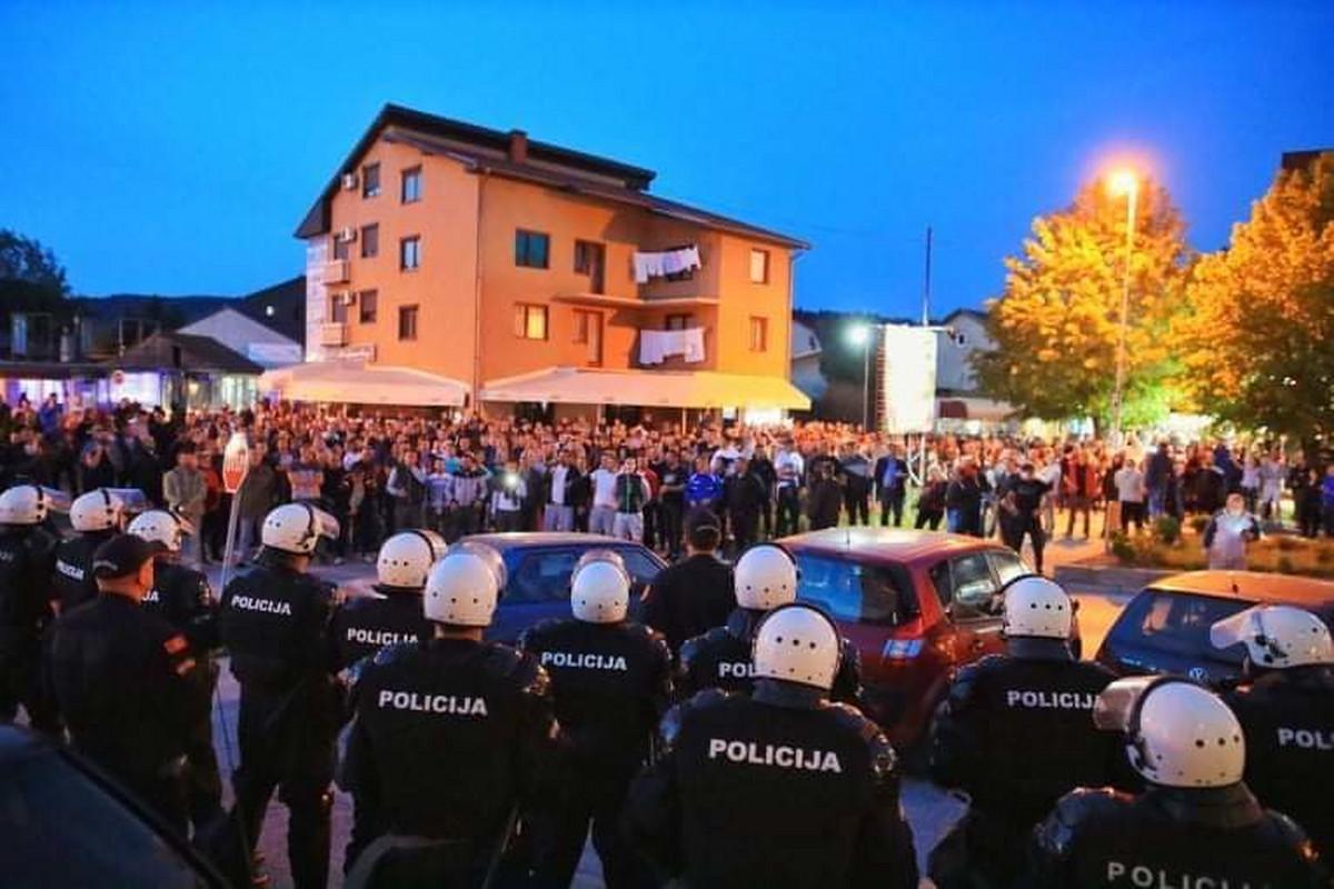 Массовые акции протеста в Черногории