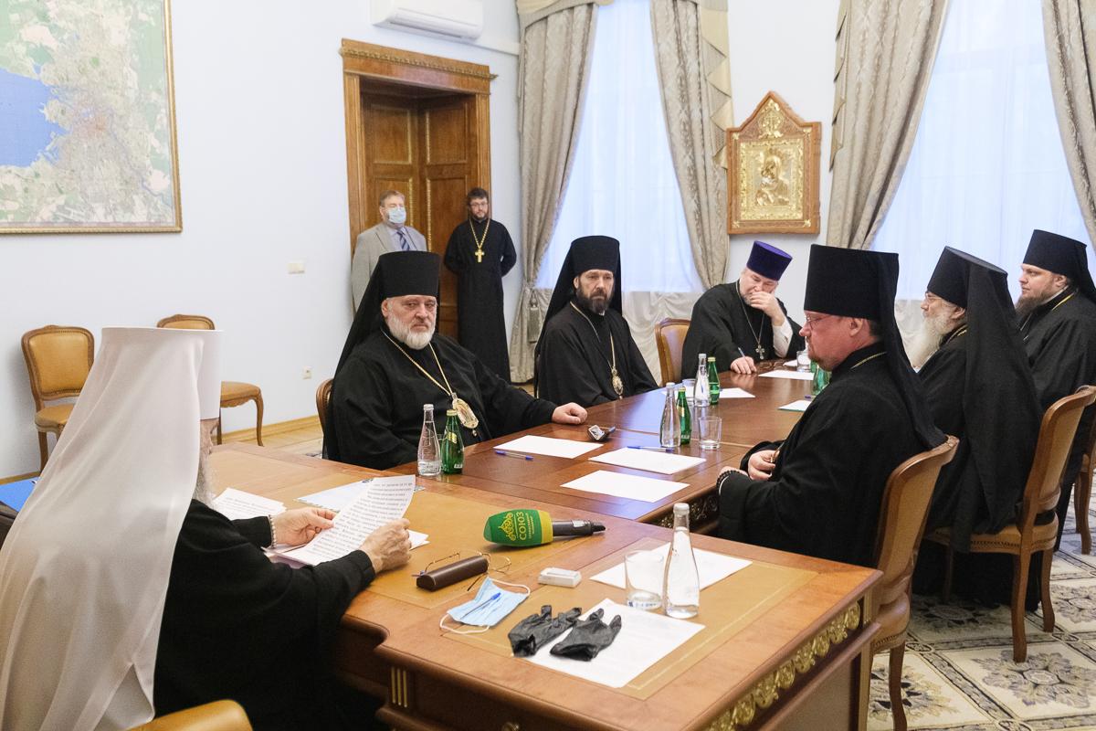Заседание Архиерейского совета Санкт-Петербургской митрополии
